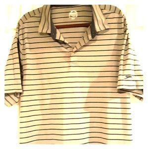 Slazenger 2x golf polo shirt. Grey/black stripes